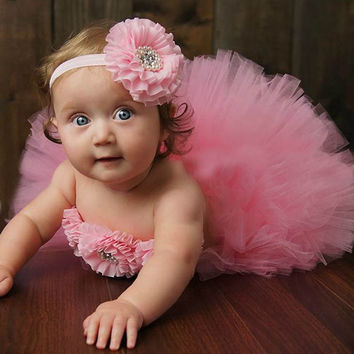 Sweet Glam Tutus Set Baby Tutu Skirt with Headband and Tops Lovely Newborn Girl Photography Props Baby Shower Gift TS069