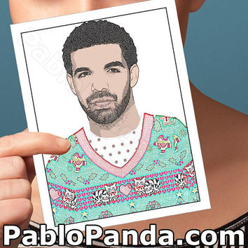 Holiday Cards | Drake | 6 God Drizzy Funny Christmas Sweater Funny Christmas Girlfriend Card Boyfriend Card Boyfriend Gift Funny Wife Card