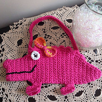 alligator purse, girls alligator purse, girls crochet purse