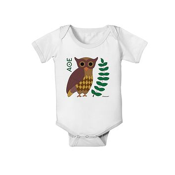 Owl of Athena Baby Romper Bodysuit by TooLoud