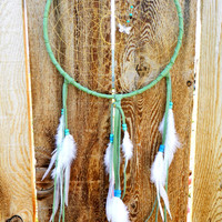 Spring Green Dreamcatcher by LeatherCrafted on Etsy