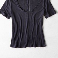 AEO Women's Lace Up Back T-shirt