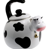 Supreme Housewares Whistling Tea Kettle, Cow
