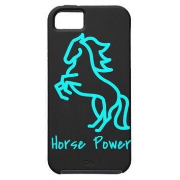 Horse Power in Blue iPhone SE/5/5s Case