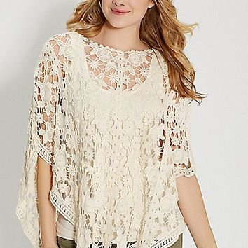crocheted poncho | maurices
