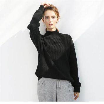 All-match Simple Loose Knit Sweater