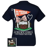 Auburn Tigers War Eagle Preppy Southern Treasure T-Shirt
