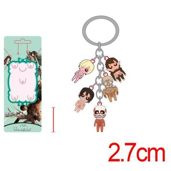 Cool Attack on Titan 1 PCS cool Japanese Cartoon Anime Animation  Keychain Figures Skeleton Skull Human Body KeyChain Pendant toys AT_90_11