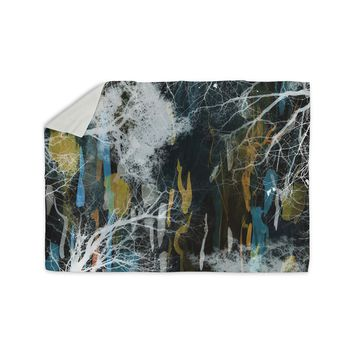 "Iris Lehnhardt ""Tree Of Life"" Abstract Blue Sherpa Blanket"
