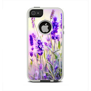The Lavender Flower Bed Apple iPhone 5-5s Otterbox Commuter Case Skin Set