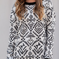 Fallout in Tribal Sweater - Lotus Boutique