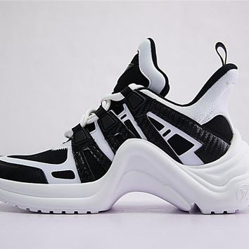 Louis Vuitton Sci-Fi Sneakers Black White
