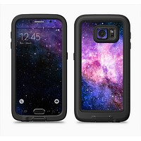 The Vibrant Purple and Blue Nebula Full Body Samsung Galaxy S6 LifeProof Fre Case Skin Kit