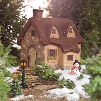 Resin Thatched Fairy Cottage And Fairy Garden Accessories - Plow & Hearth
