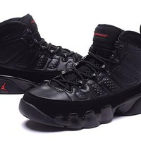 Hot Air Jordan 9 Retro Women Shoes Black True Red