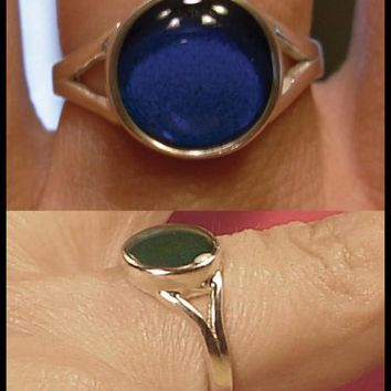 Mood Ring Sterling Silver 9MM Round
