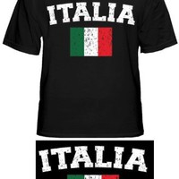 "Italy ""Italia"" Vintage Flag International Mens T-Shirt #1180"