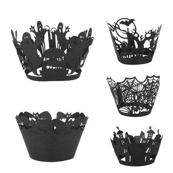 Muffin Cake Paper Cup Cupcake Wrapper Halloween Cupcake Case Festival Supplies