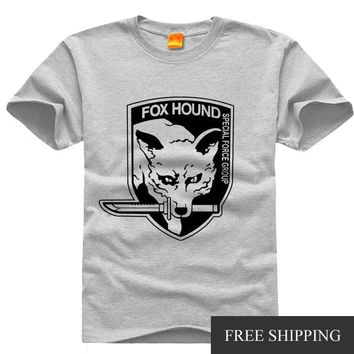 Original Design METAL GEAR SOLID MGS KOJIMA DIAMOND FOX HOUND Print Vintage Style Casual Tshirt T shirt TEE Free Shipping