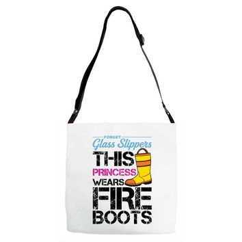 Forget Glass Slippers This Princess Wears Fire Boots Adjustable Strap Totes