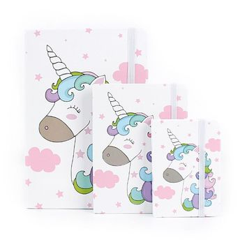 Cute Fashion Unicorn Notebook Notepad Kawaii Journal Daily Planner A5 A6 A7 Hard Copybook for Students Gifts School Stationery
