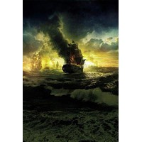 Pirates Of The Caribbean On Stranger Tides poster Metal Sign Wall Art 8in x 12in