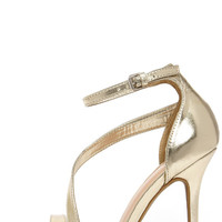 Dance with Somebody Gold Dress Sandals
