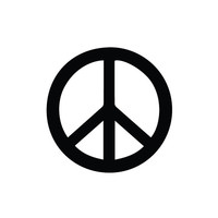 Peace Sign Car Decal / Sticker Any Corlor