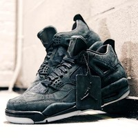 "KAWS x Air Jordan 4 ""Black""  930155-001"