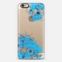 Flower Sketch (Blue) iPhone 6 case by Luisa Bolívar | Casetify