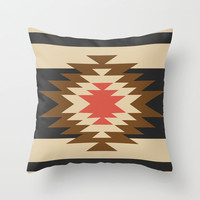 Aztec 1 Throw Pillow by Aztec