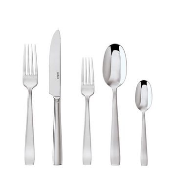 Flat 18/10 Stainless Steel Flat Stainless Steel 5 Pcs Place Setting (solid handle knife)