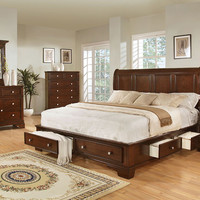 Storage Cherry Queen Bedroom Set by Lifestyle Furniture