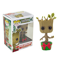 "Funko PoP 10CM Vinyl Holiday Dancing Groot Toy 4"" Guardians Of The Galaxy Groot Action Figures"