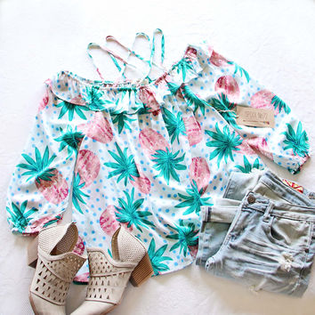 Palm & Pineapple Top