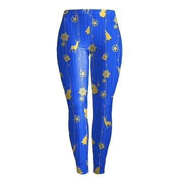 Digital Colorful Print Women Pencil Christmas Leggings Pants