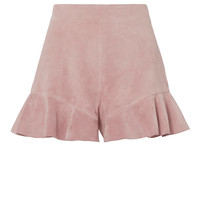 Exclusive for Intermix Emma Suede Ruffle Detail Shorts - INTERMIX®