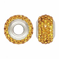 Buy Gold Swarovski Elements Collegiate Crystal Bead Fits Pandora Style Bracelets