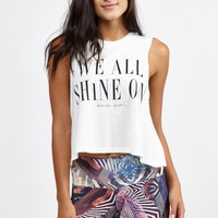 We All Shine On Crop Tank in Stardust by Spiritual Gangster | Tops | BANDIER