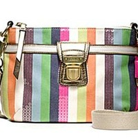 Coach Limited Edition Legacy Stripe Swingpack Crossbody Messenger Bag 47064 Multi