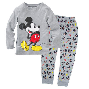 Hottest seller 100% cotton long sleeve pijama kids baby girl boy 2017 Spring autumn clothes kids clothes free shipping