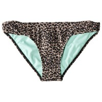 Xhilaration® Junior's Leopard Hipster Swim Bottom -Black/Brown