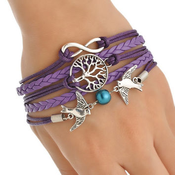 Handmade Infinity Birds Friendship Bracelet