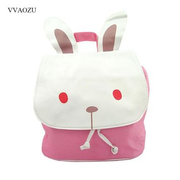 Fashion 3D Rabbit Bear Animal Style Women Girl Bunny Lolita Bakcpack Rucksack Shoulder Cross Body Bags with Ears