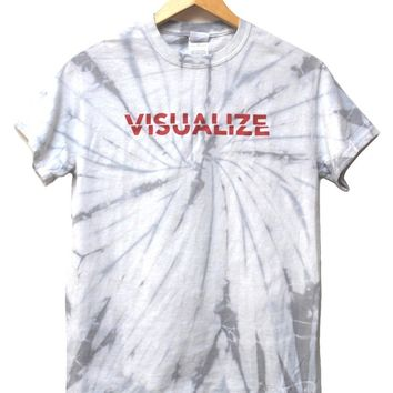 Visualize Silver Gray Tie-Dye Graphic Unisex Tee