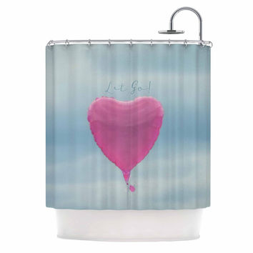 "Robin Dickinson ""Let Go!"" Blue Pink Shower Curtain"