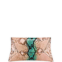 VBH - Manila Python Envelope Clutch - Saks Fifth Avenue Mobile