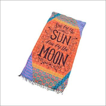 Enjoy Sun and Moon Beach Towel Blanket