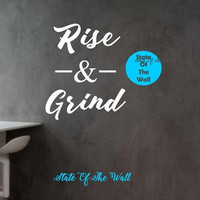 Rise and Grind Wall Decal Sticker Art Decor Bedroom Design Mural Science Geek nerd educational Motivation Fitness