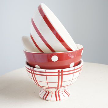 French Red Mini Bowls